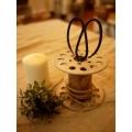 日本實木復古線軸燭台筆架(小)