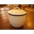 日本純白厚琺瑯食品收納罐