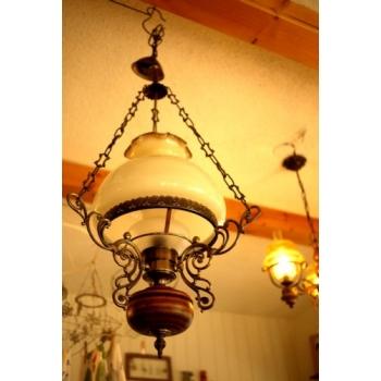歐洲古董橡木吊燈角落燈1