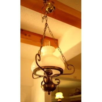 歐洲古董銅架吊燈角落燈2