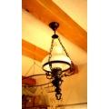 歐洲古董橡木吊燈角落燈3