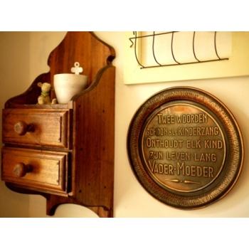 歐洲老銅盤掛飾