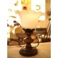 歐洲古董橡木桌燈