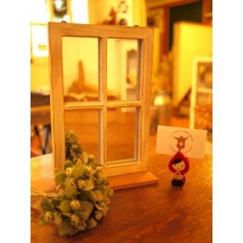 日本絕版品實木窗鏡台