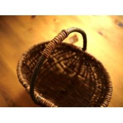 日本藤枝把手籐籃