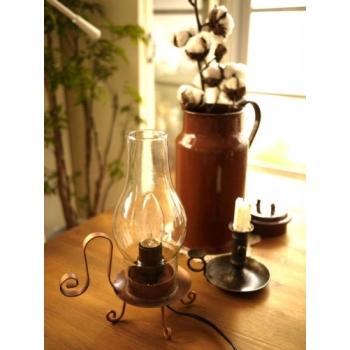 日本古銅色復古燭台式桌燈