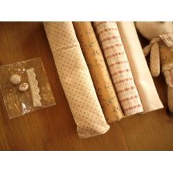日本籐籃手作拼布兩小兔禮盒