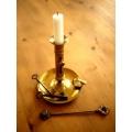 英國1920年代黃銅伸縮燭台