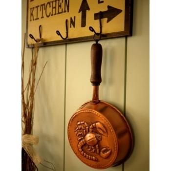德國1960年紅銅烤模廚房掛飾
