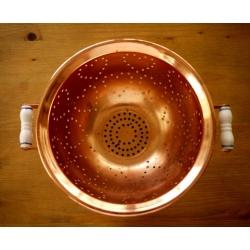 德國1940年紅銅陶瓷把手瀝水藍