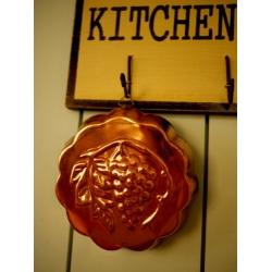 德國老紅銅烤模廚房掛飾1