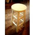 日本刷白實木椅
