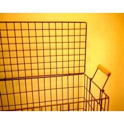 日本雙木把有蓋方形大鐵絲籃