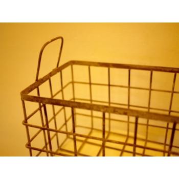 日本junk風化鐵絲籃
