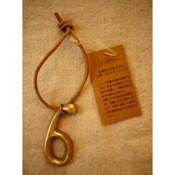日本黃銅數字皮繩吊飾