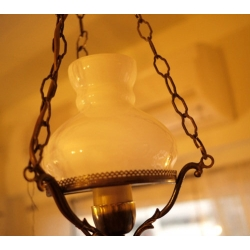 歐洲古董橡木吊燈角落燈