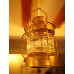 歐洲古董銅油燈造型吊燈