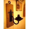 歐洲古董橡木鍛鐵壁燈