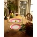 日本粉紅水玉點點蛋糕點心盤