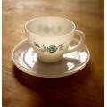 美國1960年火王藍色康乃馨咖啡杯盤組