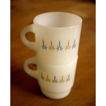 美國1960年火王白色燭光馬克杯