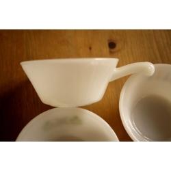 美國1950年火王白色把手湯碗(3款)