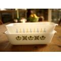 美國1960年火王白色焗烤料理盤(2款)