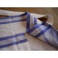 日本經典棉麻藍白格圍裙