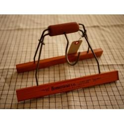 日本實木鐵毛巾架