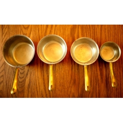 葡萄牙老紅銅(鍋)量杯組