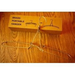 日本銅製旅行伸縮衣架