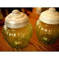 日本老氣泡玻璃糖果製物罐
