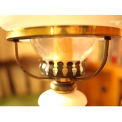 歐洲白色老玻璃燈