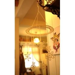 日本棉麻鈎織雪花吊飾(大)