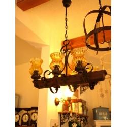西班牙鄉村古董燈船型六燈