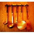 法國老紅銅廚具掛組