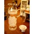 日本蕾絲耐熱玻璃冷水壺