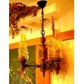 法國鄉村古董琥珀黃三燈2