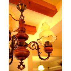 法國老橡木花朵燈