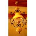 歐洲古董鄉村小花吊燈