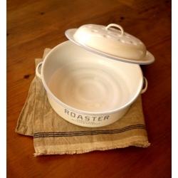 日本水藍邊白色琺瑯鍋