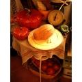 日本手工椴木麵包沾板