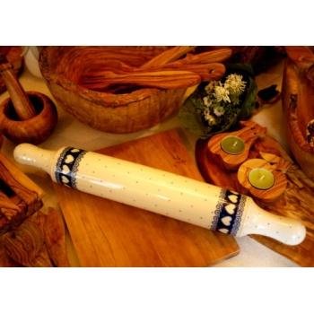 波蘭國寶藍陶瓷桿麵棍