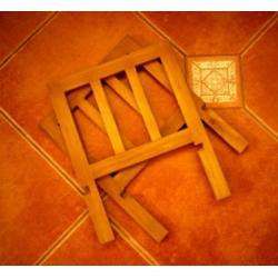 日本實木摺疊雜誌書報架