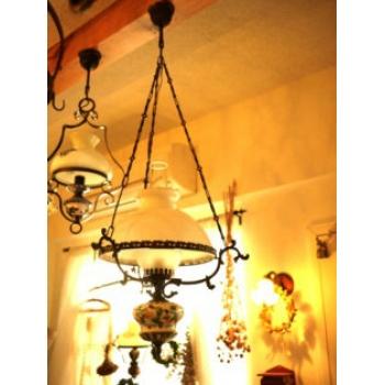 比利時古董手繪裂紋陶瓷吊燈