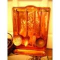 法國高盧古董紅銅廚房料理掛飾(大)