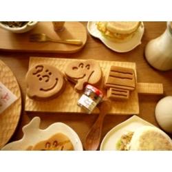 日本職人手作刻紋實木料理板(方)