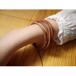 日本真皮可調式手圈