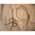 日本淡銅色鐵製蕾絲手鍊