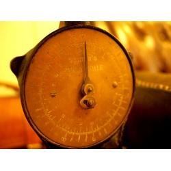 英國SALTER1890年代古董銅面鑄鐵秤